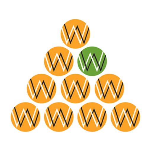 Working for Women logos in a pyramid