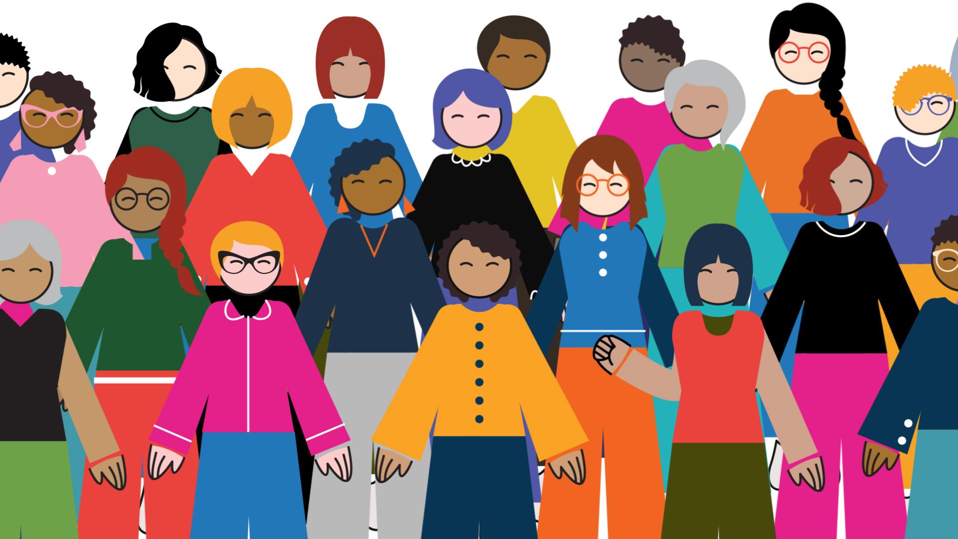 Invest in Women crowd of women
