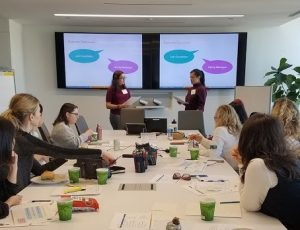 Invest in Women - Photo from the negotiation workshop at ZS with New Women New Yorkers